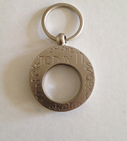 KEYCHAIN LASER-ETCHED MEDALLION HOLDER