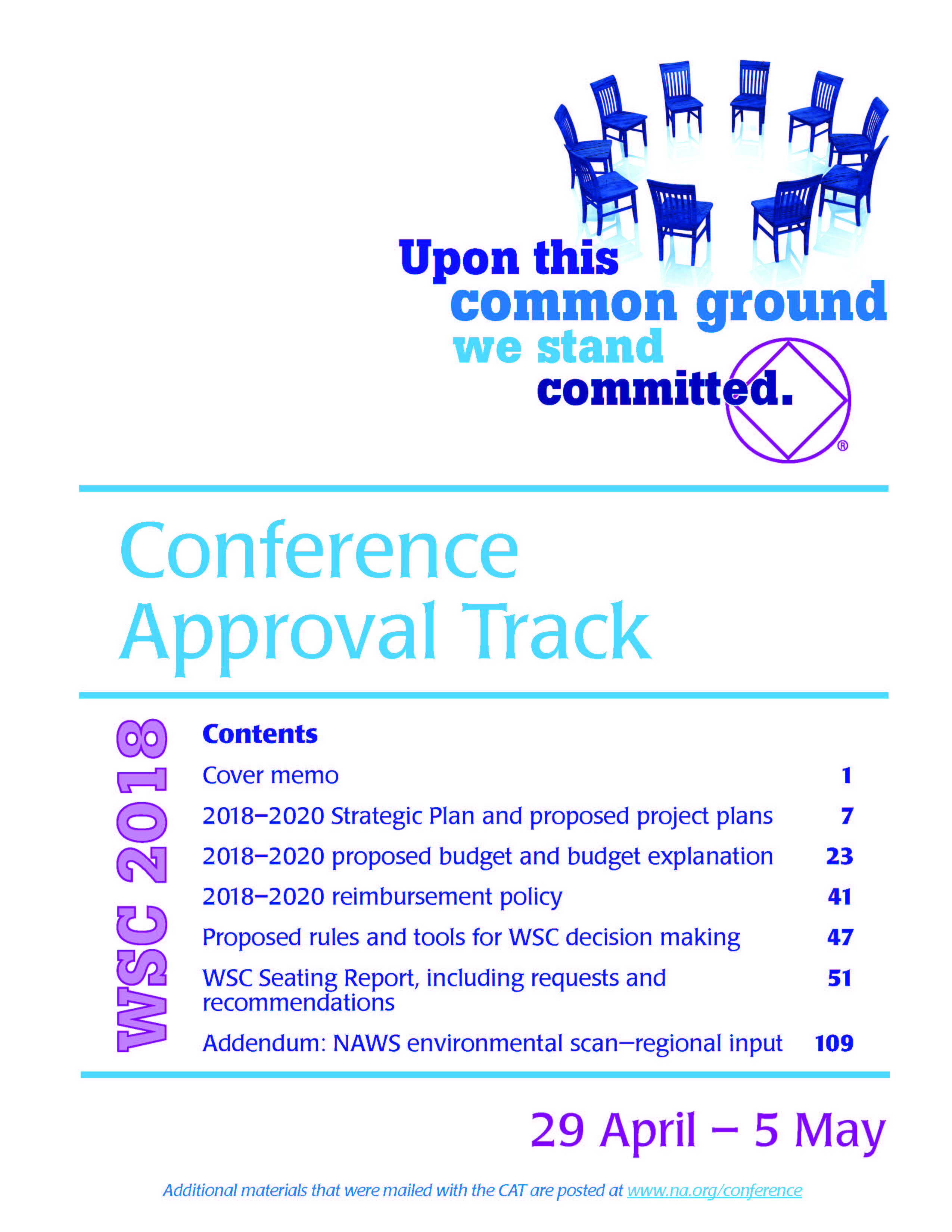CONFERENCE APPROVAL TRACK