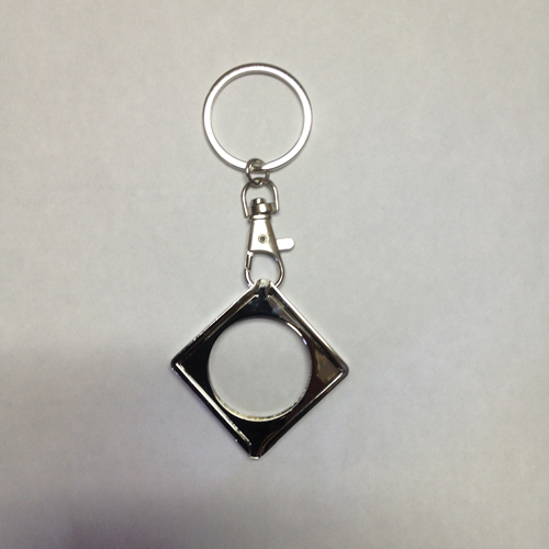 NA Style - Flip Up Medallion Holder Key Fob - Metal