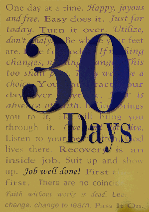 30 Days Greeting Card