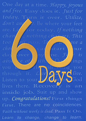 60 Days Greeting Card