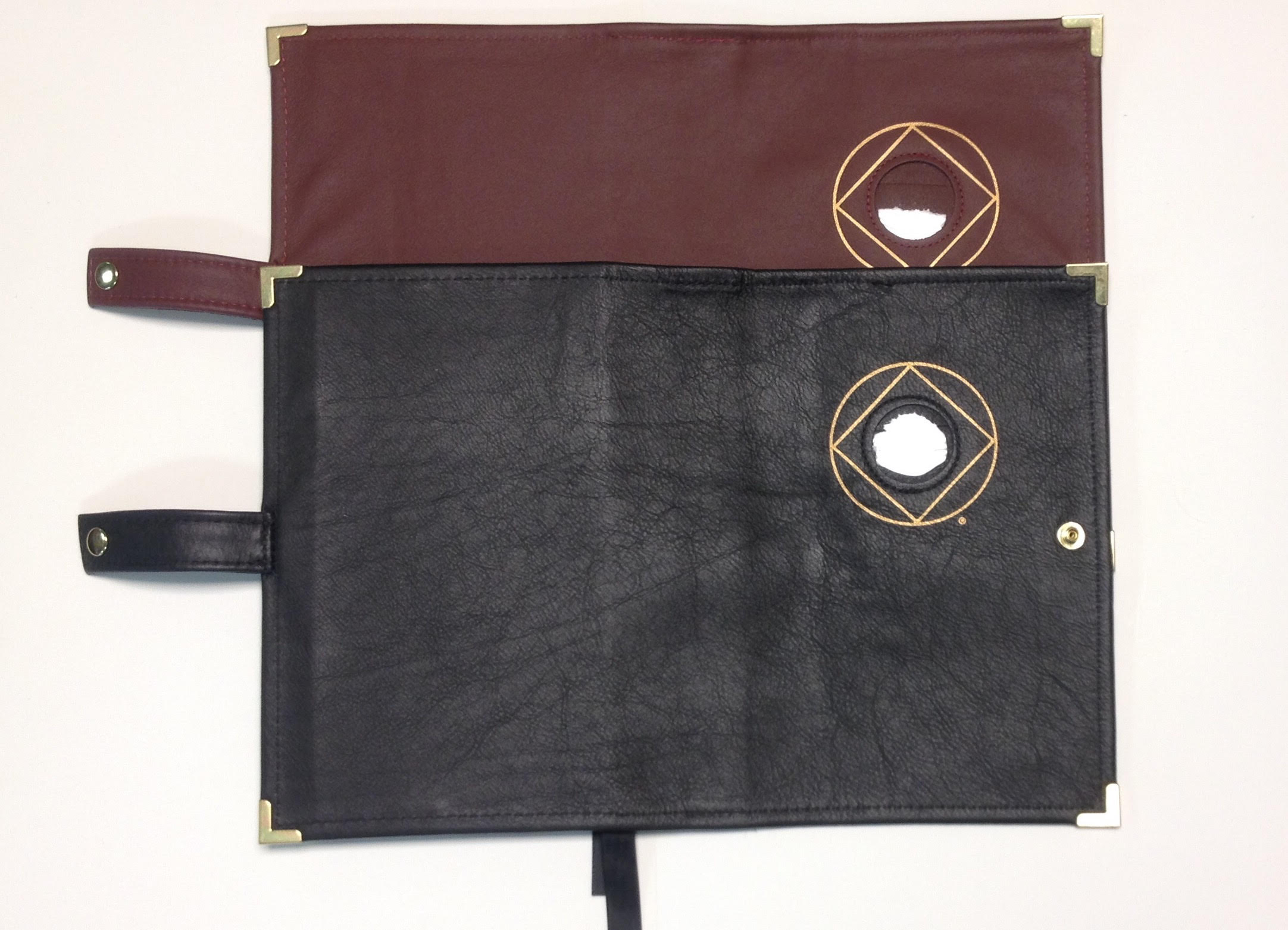 Leather DOUBLE Book Cover 6TH ED. and IT WORKS HOW AND WHY with Medallion Holder
