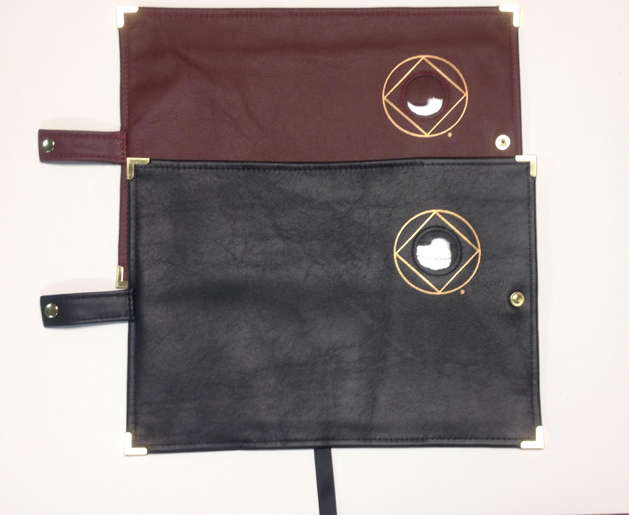 Leather BASIC TEXT (6th Ed) Book Cover w/ Circle-Diamond Symbol with Medallion Holder