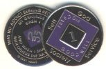 Purple/Black Tri-Plate Medallions
